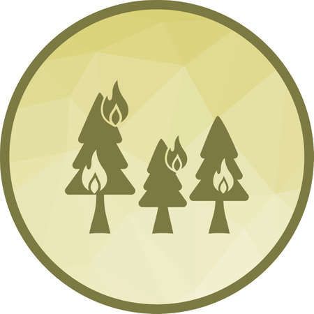 Fire in Forest Illustration