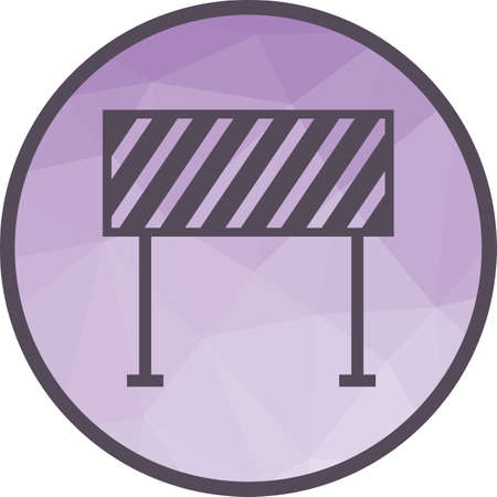 Barrier, security, hurdle icon vector image. Can also be used for firefighting. Suitable for mobile apps, web apps and print media.