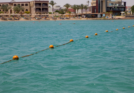 shore of the Red Sea and a path for swimming in the water