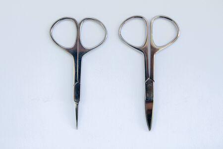 manicure scissors on a white background