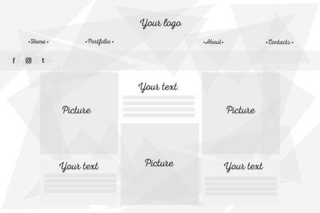 a website template in geometric modern style