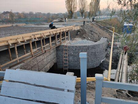 repair of a small road bridge over river