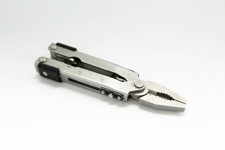 a pliers on a white background