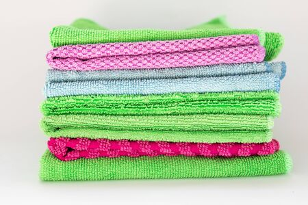 a colored microfiber cleaning rags for cleaning