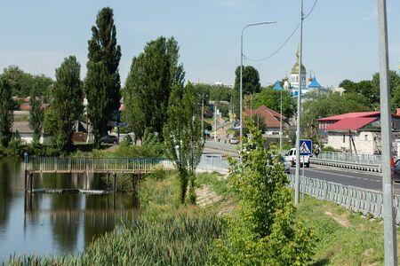 bridge over the river in village