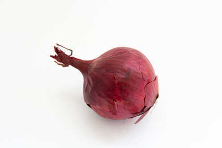 red onion on white background Banco de Imagens