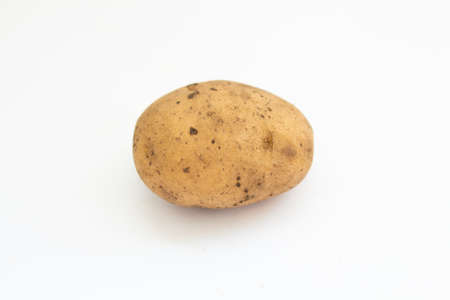 a potatoes on a white background