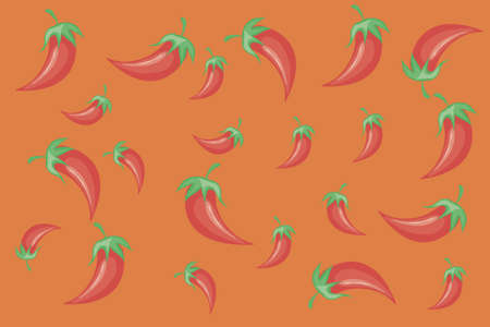 mexican red hot chili vegetable background