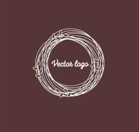 a Vector boho icon and symbols - sun logo design templates - abstract design elements for decoration in modern minimalist style Illustration