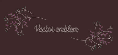 Vector boho icon and symbols - logo design templates - abstract design elements for decoration in modern minimalist style