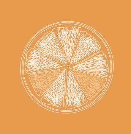 vector orange logo background with citrus fruits