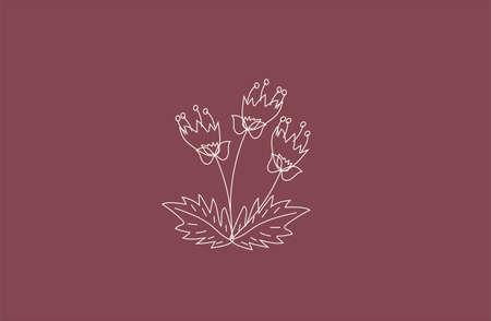 vector leaf flower logo background farm spring