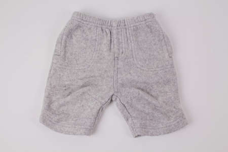 a gray children's shorts on a white background