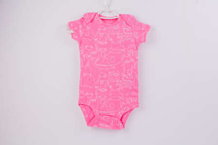 pink body for small child on a white background