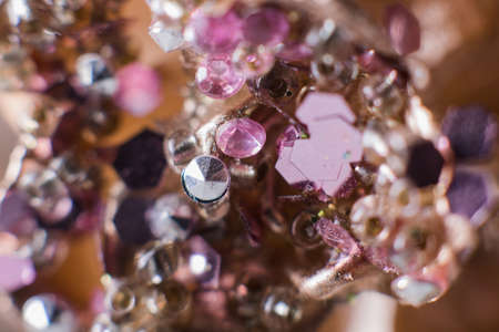 a background of precious stones macro crystals diamonds Banque d'images