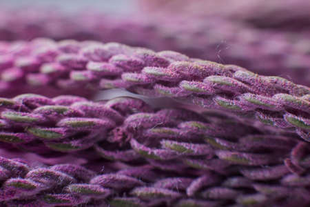 a purple threads close up under the microscope background Banque d'images