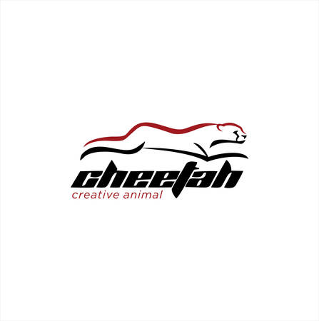 Running Cheetah Logo Template Design Vector Stock . Animal wild Logo Vector Design. Predator logo illustration