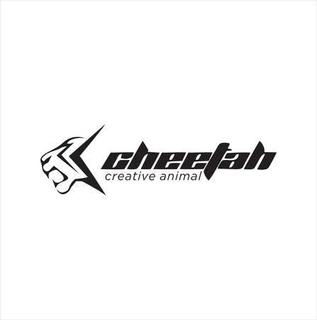 Simple Abstract Cheetah Logo Design Silhouette Stock . Cheetah head Logo Vector Illustration