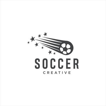 Football Soccer Logo Sport Design with a White background . Ball Logo Vector Stock Иллюстрация