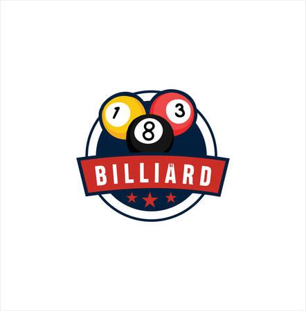 Billiard Logo Template Design . Sport Logo Vector Stock. Billiards Pool Logo