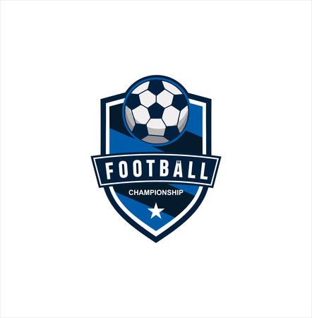 Soccer Logo Design . Football Logo Badge Design Vector Illustration Stock . football championship logo