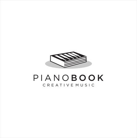 Piano Book  design Stock Illustration .