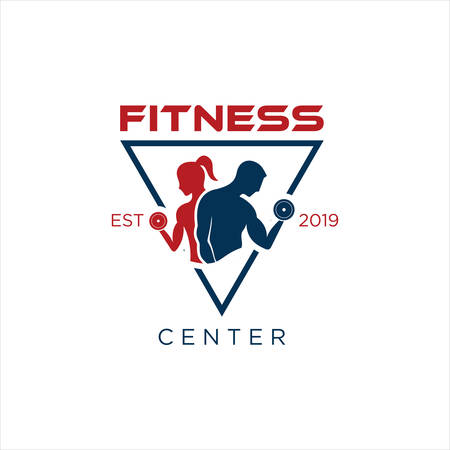 Fitness Logo Design Vector Stock. gym Logo Template. Crossfit logo Inspiration. fitness center logo