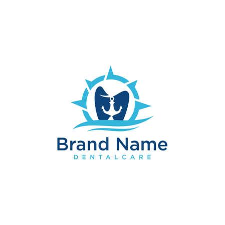 Anchor Dental tooth dentist Logo Icon Design Template . Harbor Dental tooth dentist Logo Vector Stock .