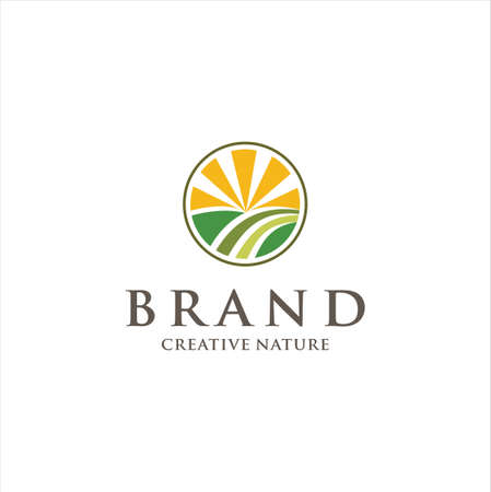 Creative Landscaping Logo Design Vector Stock