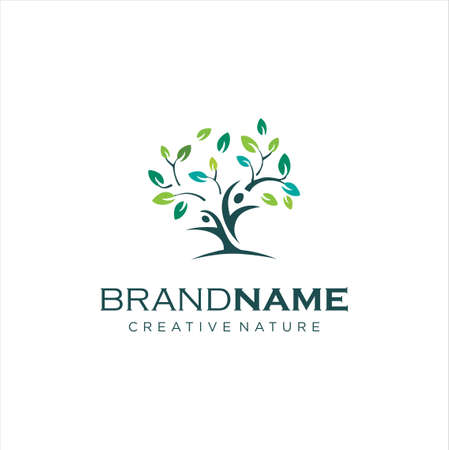 Human Tree Logo Design. Healthy People Tree Logo. People Tree Logo stock vector. Illustration of human 向量圖像