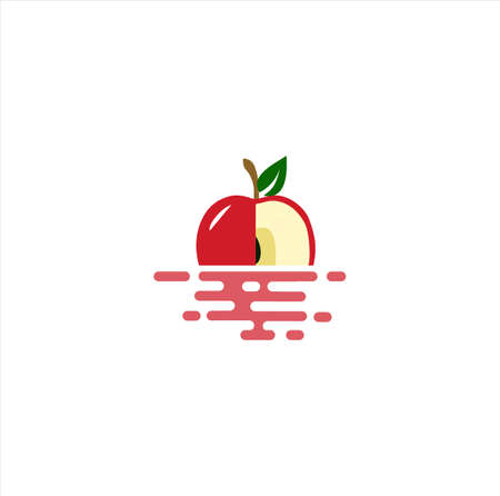 Floating Apple logo Icon design Vector Stock inspiration 向量圖像