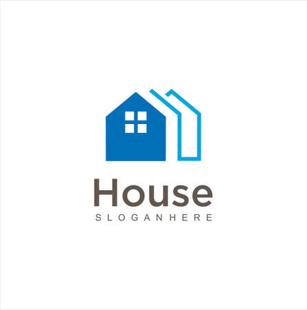 Simple Home logo Design stock. House logo icon. Real Estate Logo design vector template . 向量圖像