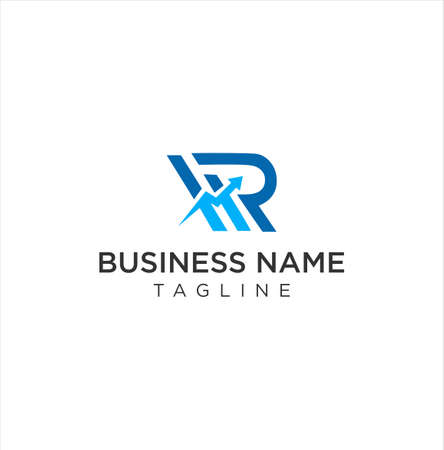 Letter R Arrows Up Chart Business Logo Vector