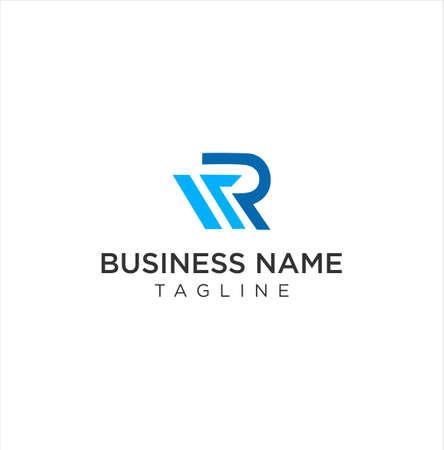 Letter M R Logo Icon Design Vector Illustration