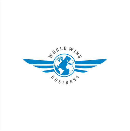 Business global wing Logo Icon Design Vector.