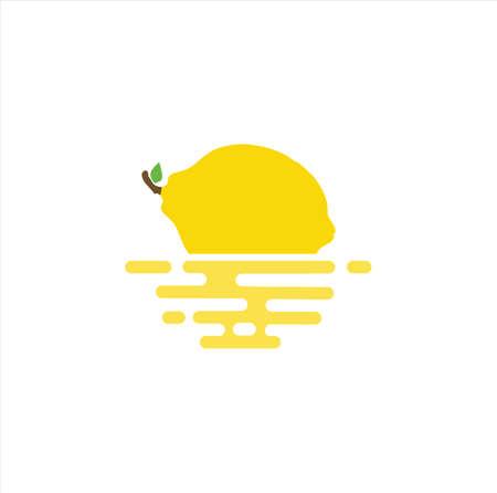 Floating Lemon Fruit Logo Icon Design Vector Stock Template