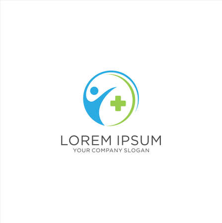 Medical Health Care Logo Icon Design Vector Stock. People Protection Health Logo Design 写真素材 - 150640386
