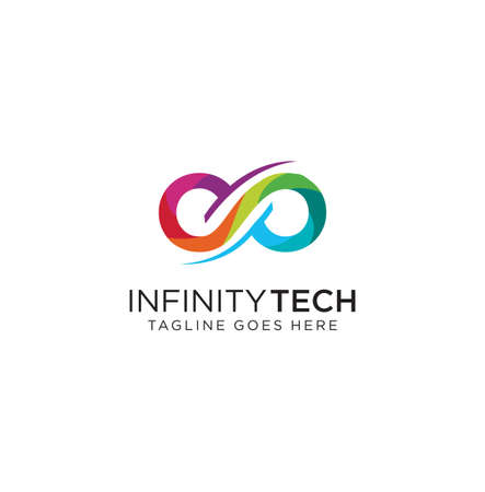 Colorful Infinity Logo Design symbol