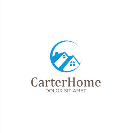 Letter C Real Estate Logo Design  Vector. Vettoriali