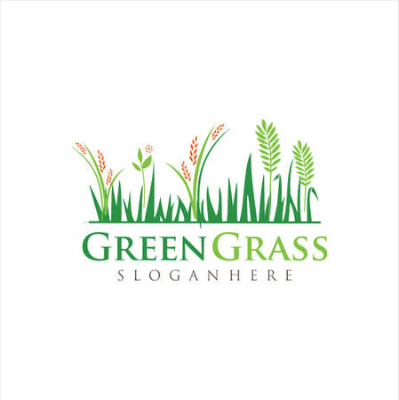 Lawn Care Logo Design Nature Organic.