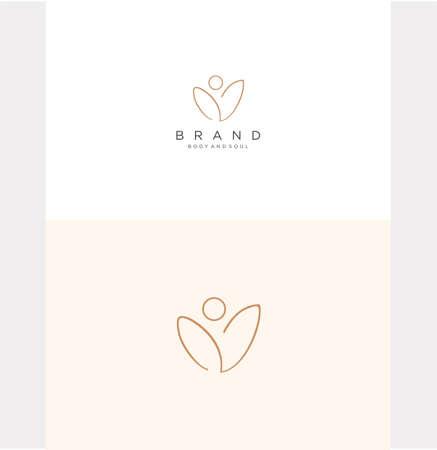Lotus Yoga Logo Design Inspiration . Meditation Lotus Yoga Logo Design Vettoriali