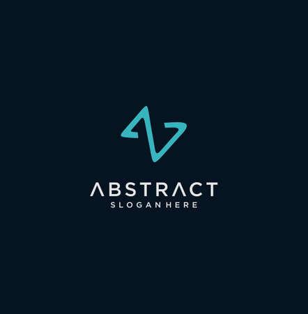 Abstract Letter S  Logo Mono Line Design Inspiration Stock. Initial S Logo Flat Design