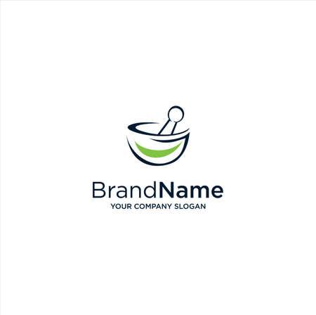 Medical Herbal Logo Design Template. Pharmacy Logo Icon Design Vector Stock. Ayurveda Logo Icon