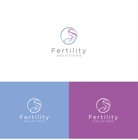 Fertility Logo icon Design Template . Fertility Center,Clinic,Solutions . Fertility Solutions Pregnancy, Women's Health, Healthcare Logo Design Vector Stock.