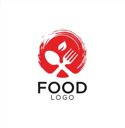 Food Logo Design . cutlery Logo Design Illustration . Restaurant logo . Organic food logo