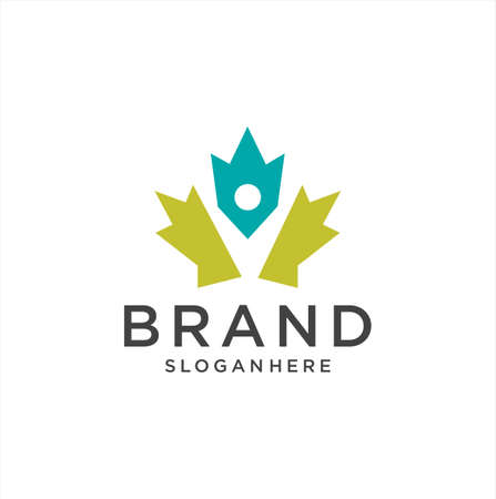 Canadian Maple People Logo Design vector illustration . Canada Community Logo Template Stock Vector Art . Maple Group Logo . 일러스트