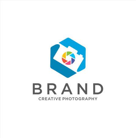 Photography Logo . Camera Logo Vector Design Illustration .