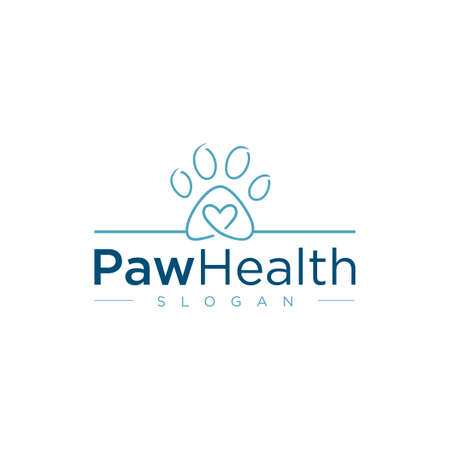 Pet Shop Logo Design Stock Illustrations . Pet logo design . Dog cat logo . Animal Pet Care Logo . Vet logo, Pet Store . Pet Health Logo Archivio Fotografico - 149593344
