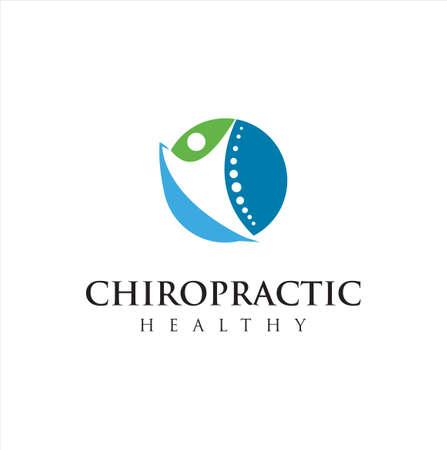 Chiropractic Logo Design Vector illustration . Pain Logo . Spine care logo . bone ,orthopedic , Chiropractic Wellness Center