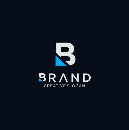 Letter B Tech Logo Design Vector Stock illustration . B Logo Design Vector Stock . Vettoriali